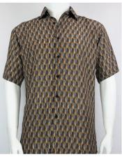 Rectangle Pattern Short Sleeve