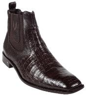ID#KA5500 Genuine Caiman skin ~ Gator skin Belly Coco Chocolate brown Dress Boot
