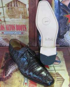 ID#RT23 Genuine Authentic Coco Chocolate brown Caiman skin ~ Gator skin crocodile skin ~ Gator skin Belly Dress Cheap Priced Exotic Skin Shoes For Sale For Men
