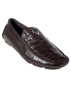 Chocolate brown Genuine Caiman