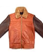 Collar Brown/Cognac Alaska Bomber