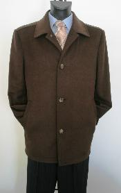 Chocolate brown Style Overcoat