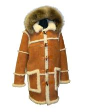 Hooded Toggle Full Shearling