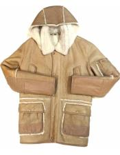 & Cream Shearling With