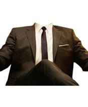 ID#DB24758 Brown Don Draper Style Attire Clothes Costume Halloween Suit