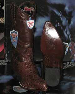ID#Q83-K Wild West Coco Chocolate brown Genuine crocodile skin ~ Gator skin western  Boot (EE)