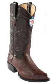Wild West Coco Chocolate brown Botas De Avestruz J-Toe Smooth Ostrich Wing Tip Western Dress Cowboy Boot Cheap Priced For Sale Online