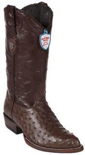 ID#DG7839 Wild West Coco Chocolate brown Full Quill Ostrich Western Dress Cowboy Boot Cheap Priced For Sale Online