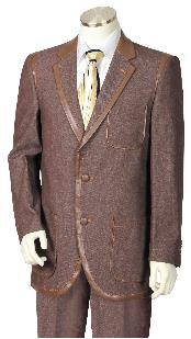 Chocolate brown Three Button