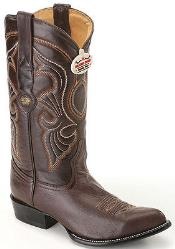 ID#KA8024 Goat Leather skin p Coco Chocolate brown Authentic Los altos Western Boots Western Rider Style
