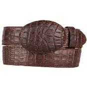 Chocolate brown Caiman skin