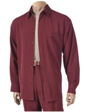 6 Button Burgundy Long