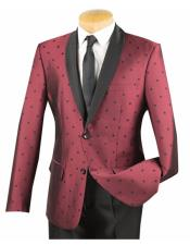 Dot Tuxedo Burgundy Single