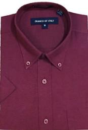 Button Down Burgundy Short