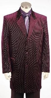 length Zoot Suit Burgundy