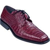 ID#KA4632 Gator Skin Burgundy Dress Cheap Priced Exotic Skin Shoes For Sale For Men  ~ Maroon ~ Wine Color
