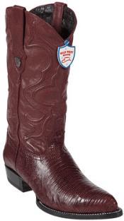 ID#PG6745 Wild West Burgundy ~ Maroon ~ Wine Color Teju Lizard skin Western Dress Cowboy Boot Cheap Priced For Sale Online