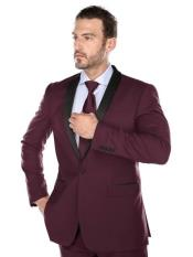 Burgundy Suit Slim Fit