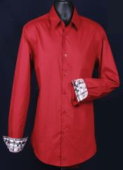 ID#KA6638 Fancy Slim Fit Dress Cheap Fashion Clearance Shirt Sale Online For Men - Cuff Pattern