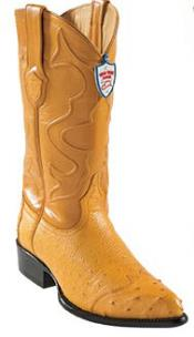 ID#EN8946 Wild West Buttercup J-Toe Smooth Ostrich Wing Tip Western Dress Cowboy Boot Cheap Priced For Sale Online