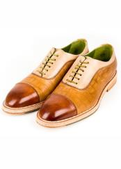Leather Camel Lace-Up Hand-Crafted