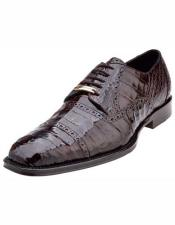 ID#NM1482 Men's Marcello Belvedere Brown Cap Toe Italian Style Crocodile Cheap Priced Exotic Skin Shoes For Sale For Men