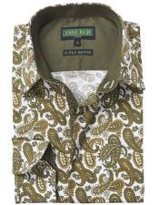 Green Floral Paisley Fashion