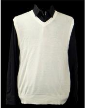 ID#TM14939 Solid White Groomsmen Vest 100% Acrylic Casual Wear Light Weight Sweater