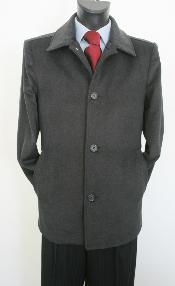 Coat Style Dark Charcoal