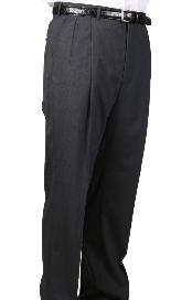 ID#MM5049 Dark Charcoal Masculine color , Parker, Pleated creased Pants Lined Trousers