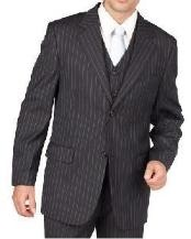 Charcoal Gray Pinstripe Two