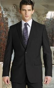 ID#MQ0011 Dark Charcoal Masculine color Two buttons Superior fabric 150's 2pc Wool fabric Suit with Hand Pick Stitching on Collared