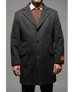 Car Coat Mens Charcoal