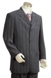 Fashion Suit Charcoal Masculine