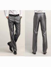 Charcoal Grey Shiny Sharkskin