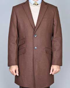 Wool fabric Overcoat Single