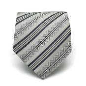 Classic Gray Striped Necktie
