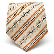 Classic Orange Striped Necktie