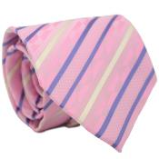Classic Pink Striped Neck