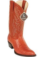 ID#DB17224 Cognac Handmade King Exotic Teju Lizard Skin Print J Toe Cowboy Dress Cowboy Los Altos Boots Cheap Priced For Sale Online