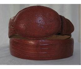 Authentic Cognac Lizard skin
