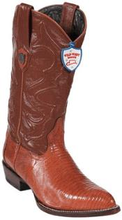 ID#PN7834 Wild West Cognac Teju Lizard skin Western Dress Cowboy Boot Cheap Priced For Sale Online