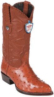 Wild West Cognac Full Quill Ostrich Western Dress Cowboy Boot Botas De Avestruz Cheap Priced For Sale Online