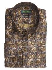 Paisley Pattern Jacquard Shirt