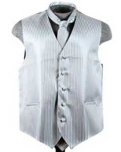 ID#VS6256 Groomsmen Ties Combo Grey Groomsmen Vest ~ Waistcoat ~ Waist coat (Buy 10 of same color Vest For $25 Each)