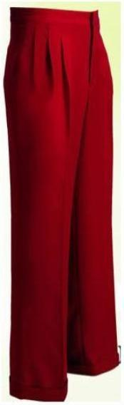 ID#WL10 Long length rise big leg slacks Wide Leg Triple Pleat Pant Copper~Rust~cognac 22- Inch\ around the bottom