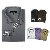 ID#PN92 Stylish Cotton Blend Square Button Dress Cheap Fashion Clearance Shirt Sale Online For Men 6 Colors Style Multi-Color