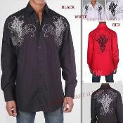 ID#PN74 Cotton Stylish trendy informal casual Cheap Fashion Clearance Shirt Sale Online For Men With Embroidered Design Multi-Color