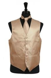 ID#VS2024 (Buy 10 of same color Tie For $25 Each) Horizontal Rib Pattern Groomsmen Wedding Vest ~ Waistcoat ~ Waist coat For Groom and Groomsmen Groomsmen Ties Combo Cream