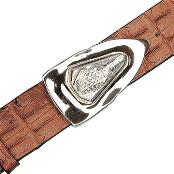ID#YR6592 Peanut Genuine crocodile skin ~ Gator skin Backstrap Belt